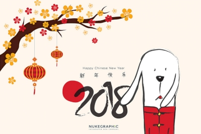 Hello Year of the Dog! Happy Chinese New Year 2018!